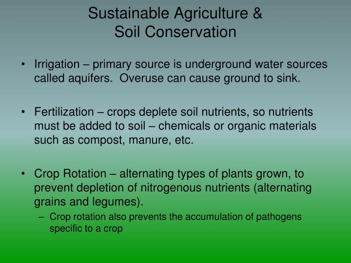 Sustainable Agriculture &