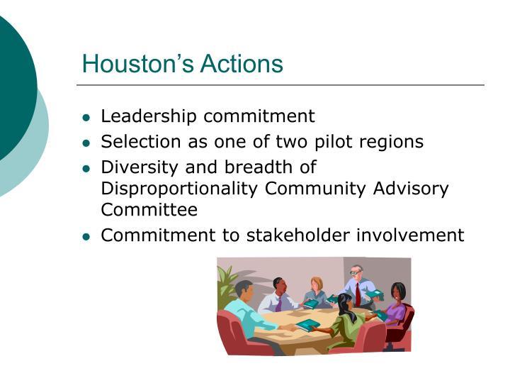 Houston's Actions