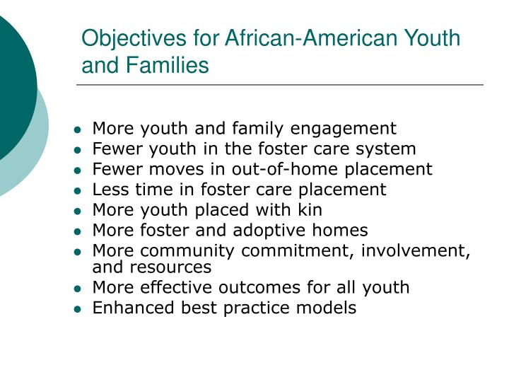 Objectives for African-American Youth and Families