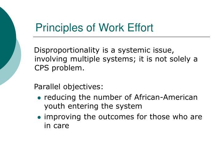 Principles of Work Effort