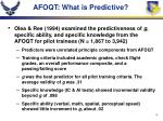 afoqt what is predictive
