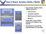 test of basic aviation skills tbas