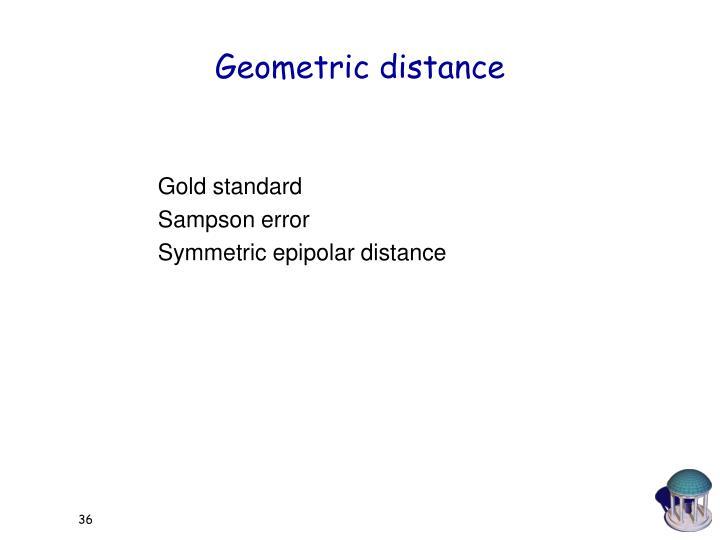 Geometric distance