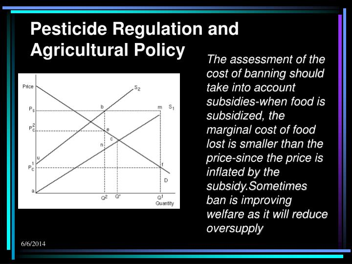Pesticide Regulation and Agricultural Policy