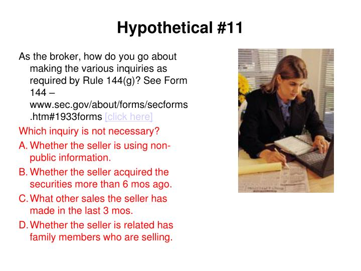 Hypothetical #11