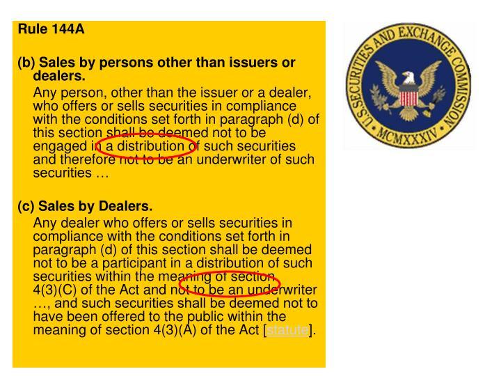Rule 144A