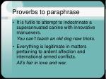 proverbs to paraphrase5