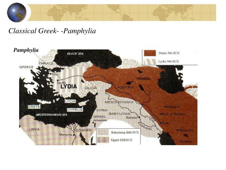 Classical Greek- -Pamphylia