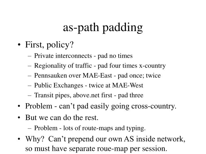 as-path padding