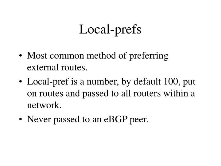 Local-prefs