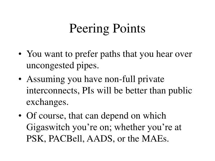 Peering Points