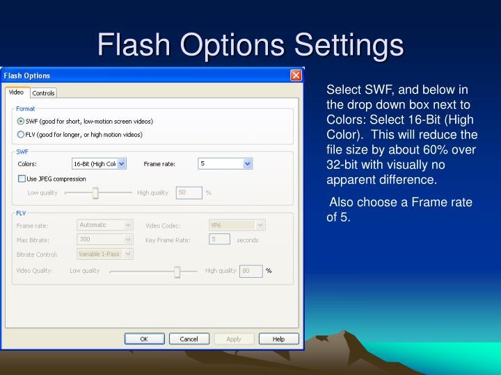Flash Options Settings