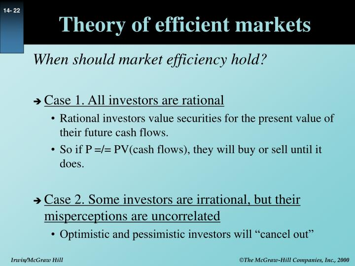 Theory of efficient markets