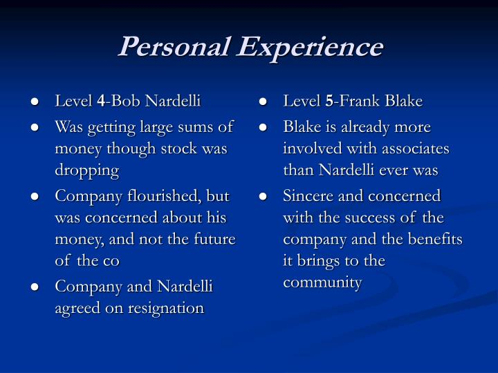 leadership level experience personal powerpoint chapter ppt presentation nardelli bob