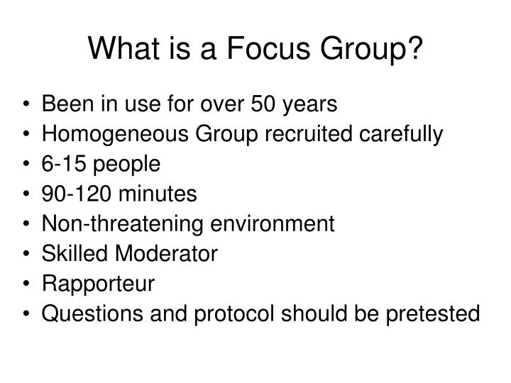 What is a Focus Group?