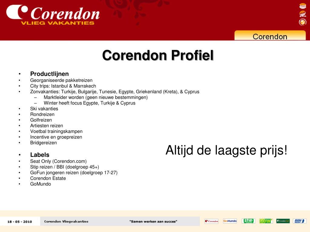 Corendon Profiel