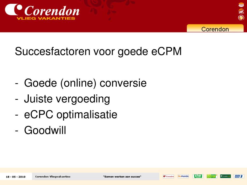 Succesfactoren voor goede eCPM