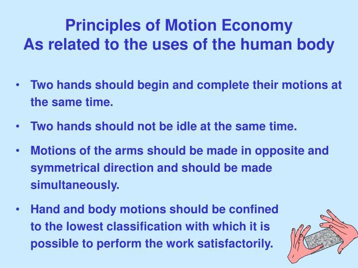 Principles of Motion Economy