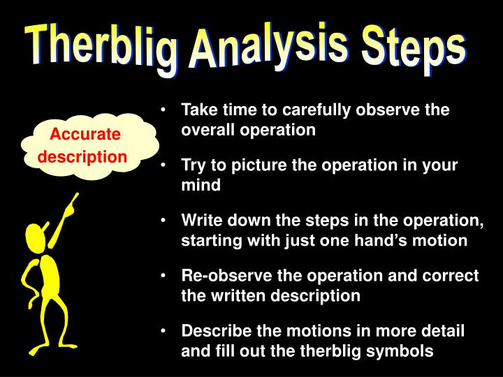 Therblig Analysis Steps