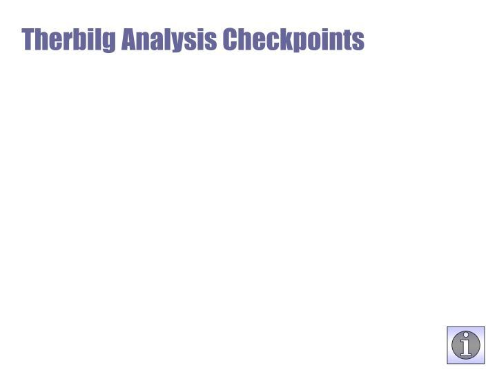 Therbilg Analysis Checkpoints