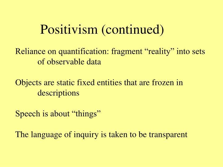 positivist research philosophy