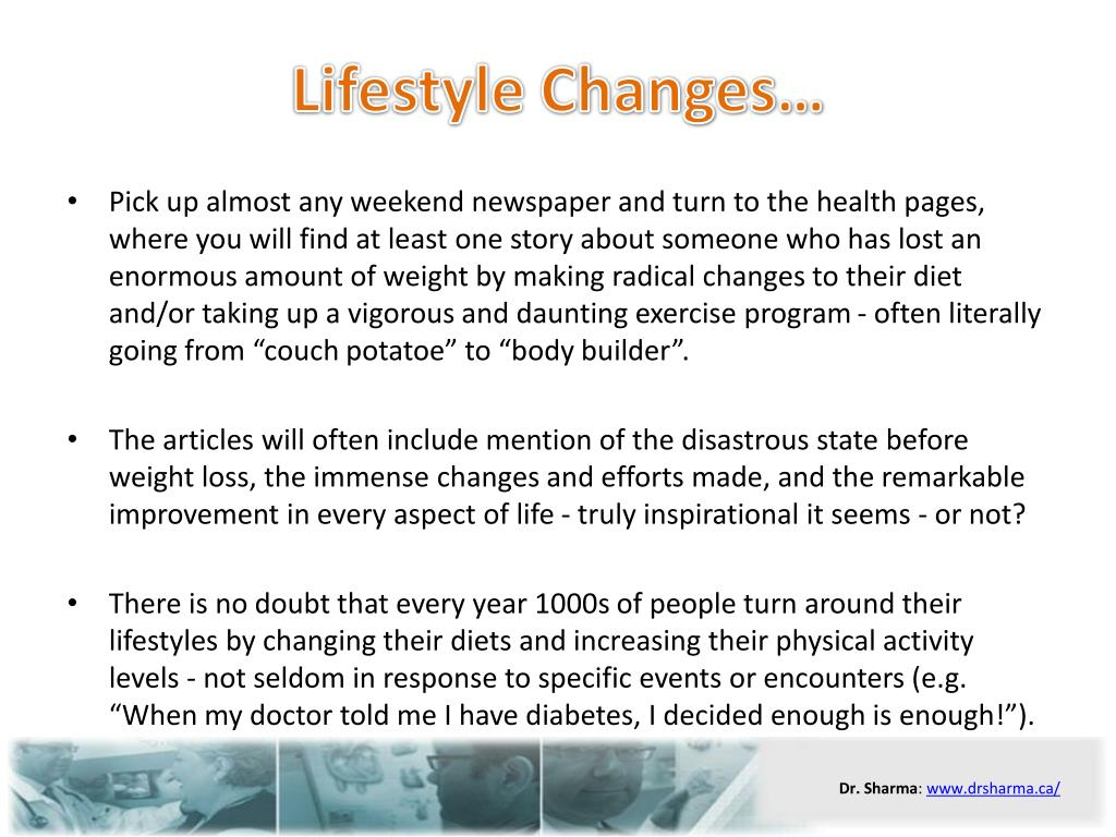 Lifestyle Changes…