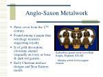 anglo saxon metalwork