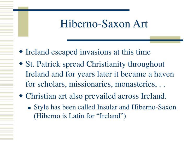Hiberno-Saxon Art