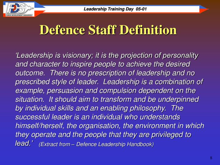 Defence Staff Definition