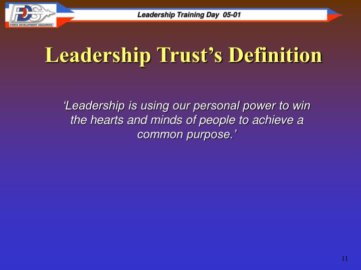 Leadership Trust's Definition