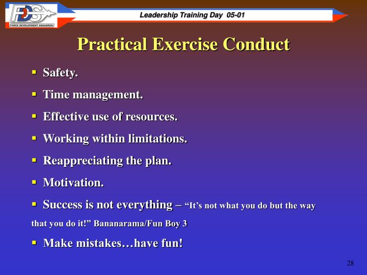 Practical Exercise Conduct