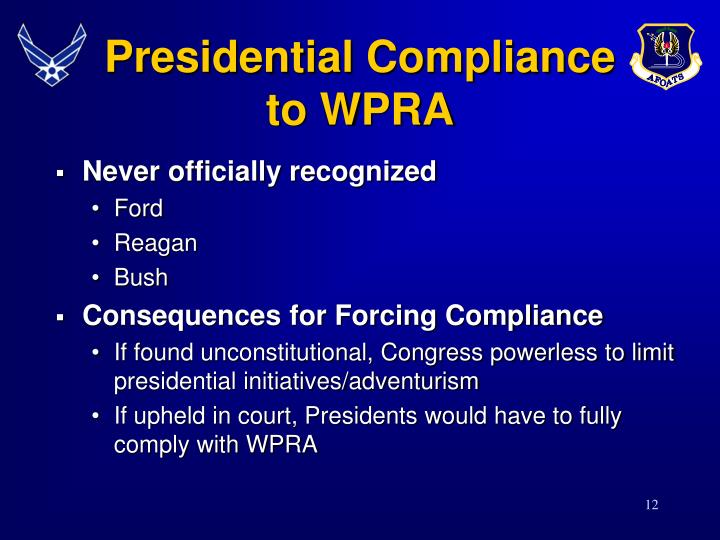Presidential Compliance