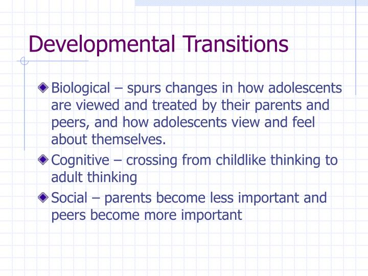 characteristics of adolescents Research about brain development and the other changes taking place in the young adolescent that teachers can use to improve student learning.