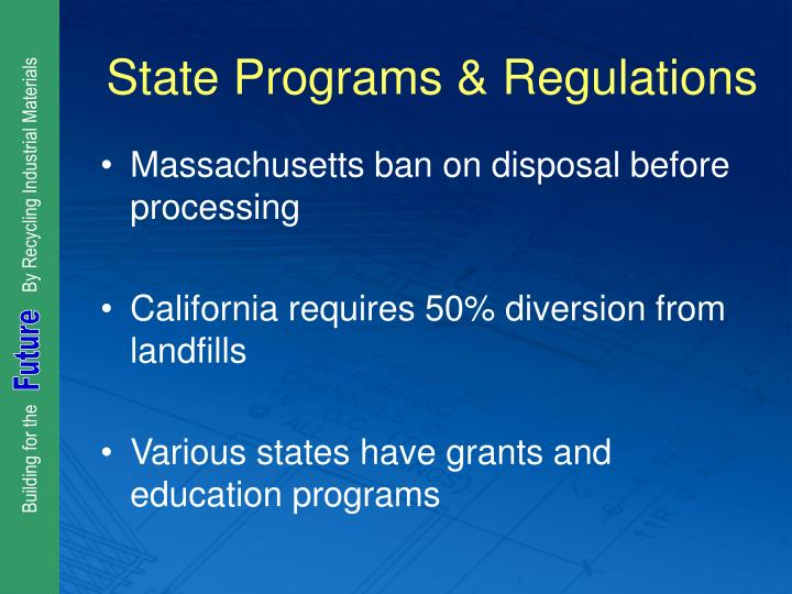 State Programs & Regulations
