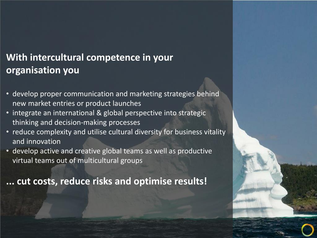 With intercultural competence in your organisation you