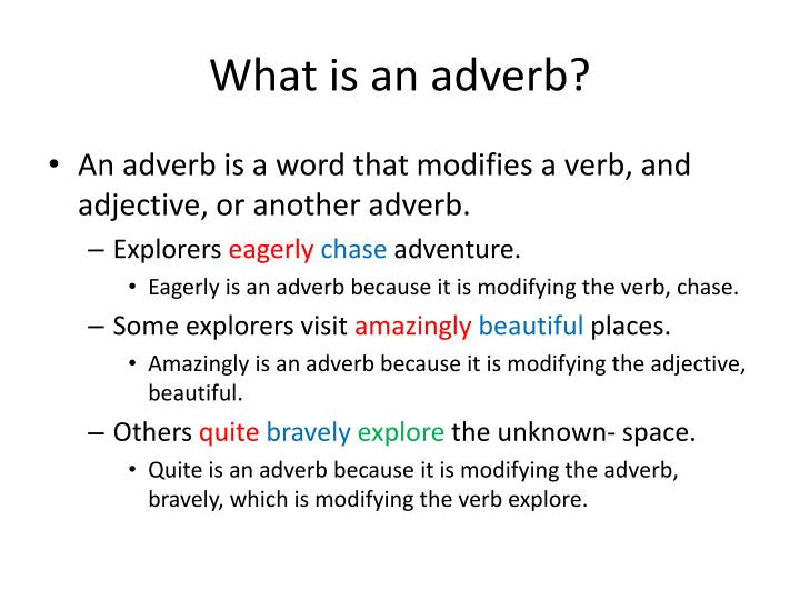 Ppt What Is An Adverb Powerpoint Presentation Id 1213145