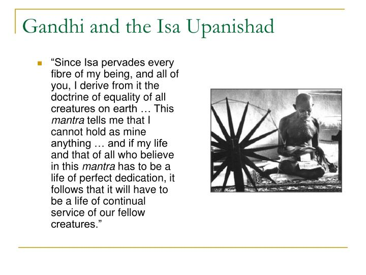 Gandhi and the Isa Upanishad