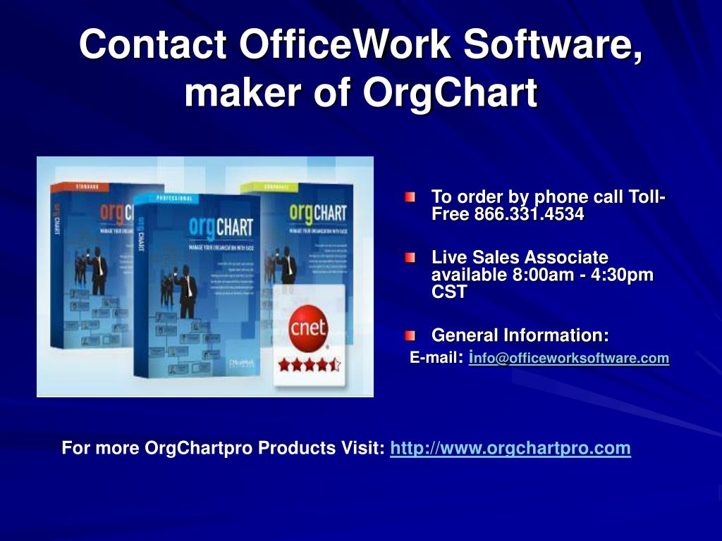 Contact OfficeWork Software, maker of OrgChart