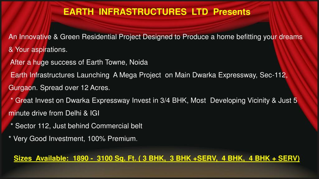 EARTH  INFRASTRUCTURES  LTD  Presents