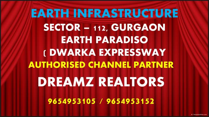 Earth infrastructure sector 112 gurgaon earth paradiso dwarka expressway