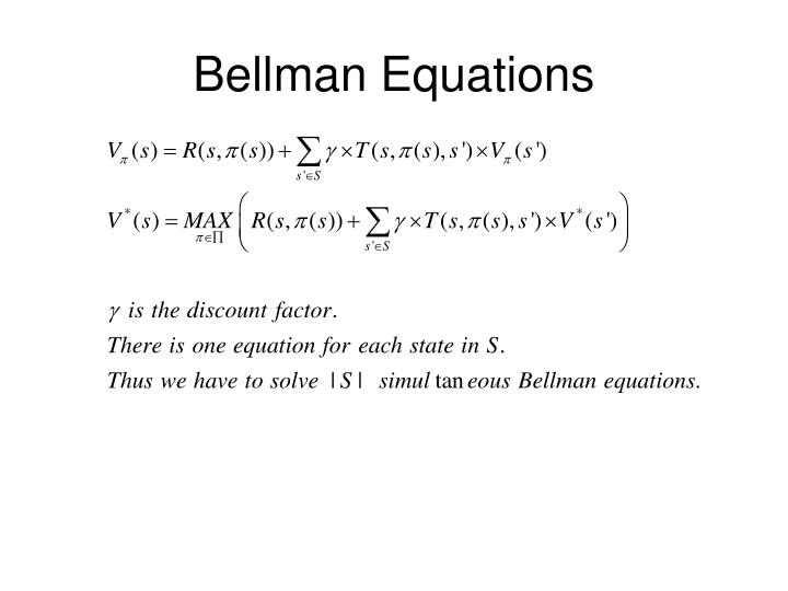 Bellman Equations
