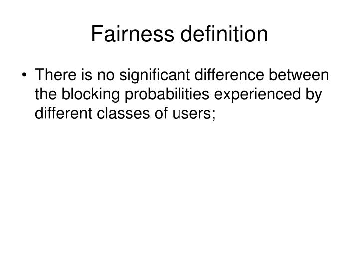 Fairness definition