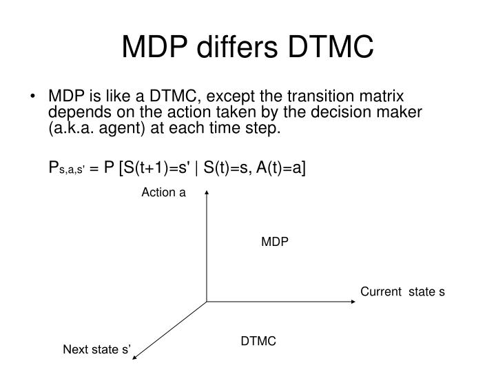 MDP differs DTMC