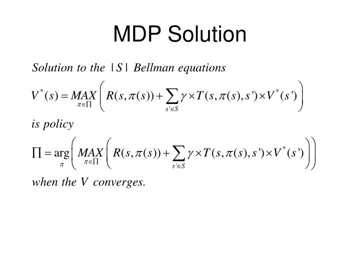 MDP Solution