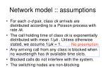 network model assumptions