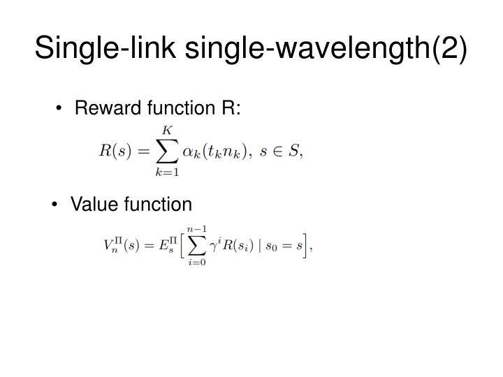 Single-link single-wavelength(2)