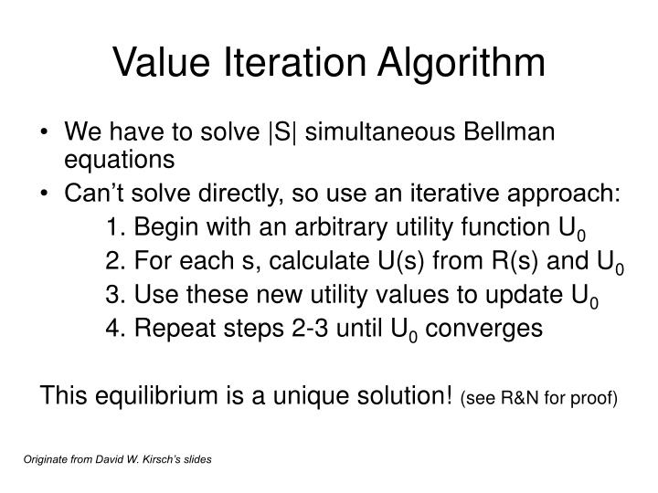 Value Iteration Algorithm