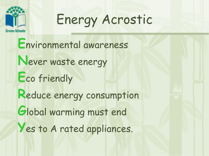 Energy Acrostic