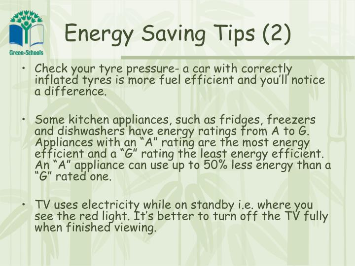Energy Saving Tips (2)