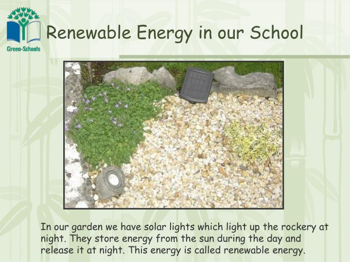 Renewable Energy in our School
